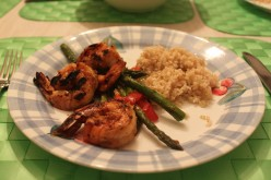 How to Make Grilled Ginger Shrimp With Roasted Asparagus