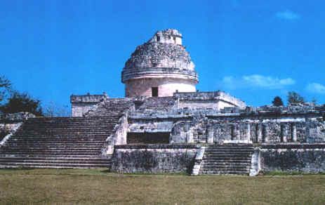 The famous observatory of Chichen Itzs was used to plot the sun, moon and Venus in the Mayan system of three interlocking calendars.