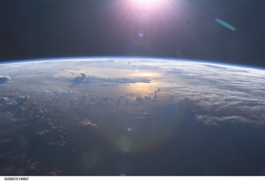 A space born view allows us to peer over the horizon to identify threats before they become a problem. We can either move out of the way, or attempt to tap this massive energy resource.