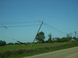 Falling power lines