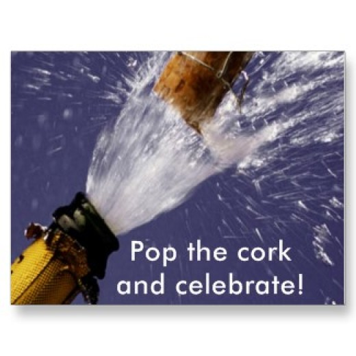 Pop the cork and celebrate...First Year Anniversary on HubPages. Join me in this celebration and give a thumbs up!