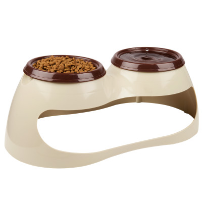 Skid Stop Elevated Double Feeding Bowl $15.99