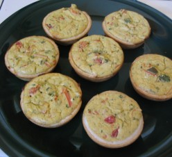 Finished Mini-quiches.  Delicious!