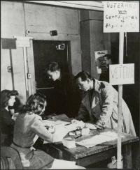 Veterans registering for classes, 1946