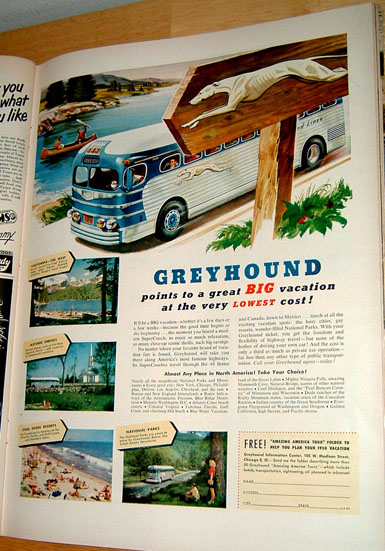 Good Old Greyhound Bus Helped With the Commuting!