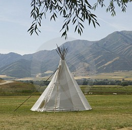 The Indian teepee is another type of home. Though quicker to raise ans strike, the yurt has advantages that the teepee lacks.