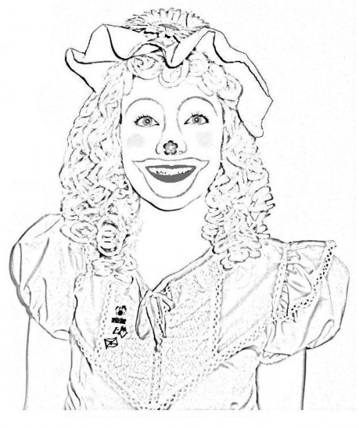 Circus Clown Kids Coloring Pages Free Colouring Pictures to Print -  Happy Female Clown