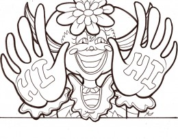 Circus Clown Kids Coloring Pages Free Colouring Pictures to Print - Birthday Party Clown