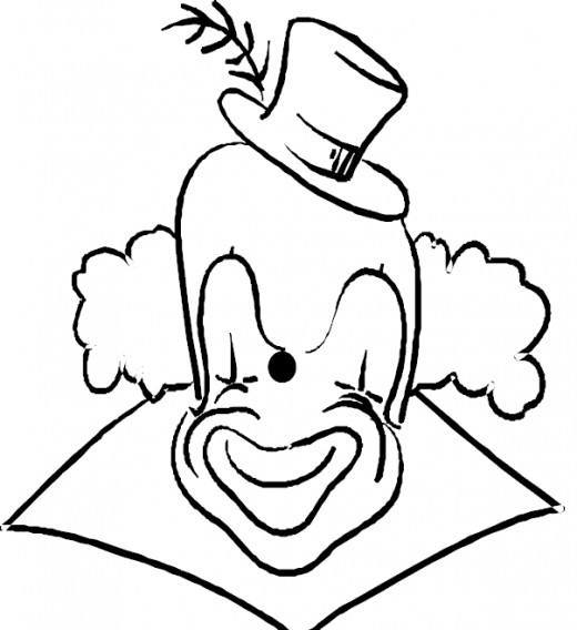 Circus Clown Kids Coloring Pages Free Colouring Pictures to Print - Caricature Clown