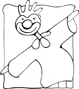Circus Clown Free-Kids Coloring Pages Colouring Pictures to Print