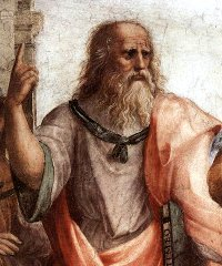Ancient Greek philosopher, Plato, author of Timaeus and Critias from which we receive the story of Atlantis.