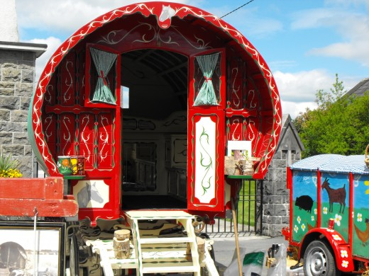 Hand made Gypsy caravan at Dunderry Fair.