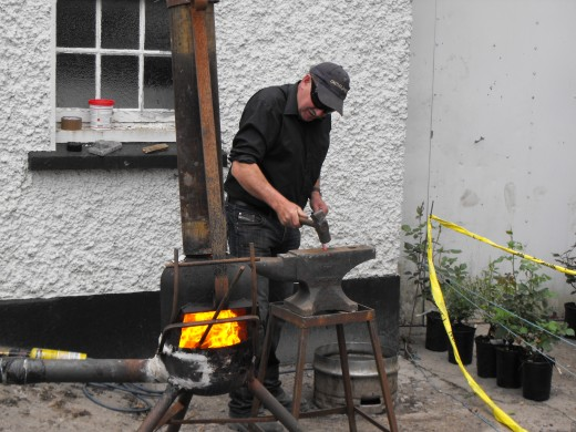 Blacksmith at work at Dunderry Fair.