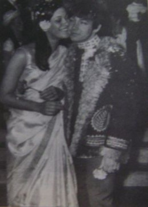 Burdon and first wife Angela King in 1967