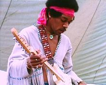 Jimmy Hendrix playing the Star Spangled Banner at Woodstock in 1969