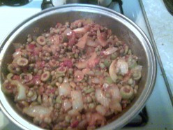 Soffritto with Gandules ready to spa with the rice and chicken!