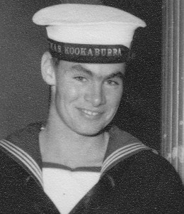 The writer as a twenty-year old sailor in 1956