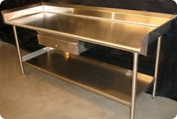 Stainless Steel Bench For Commercial Kitchens