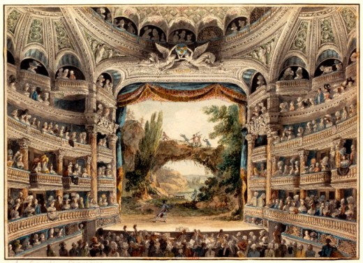Interior fo a grand theater in Jefferson's time.