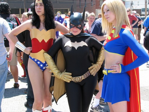 Wonder Woman, Batgirl, and Supergirl.  Source: Flickr, scott54170
