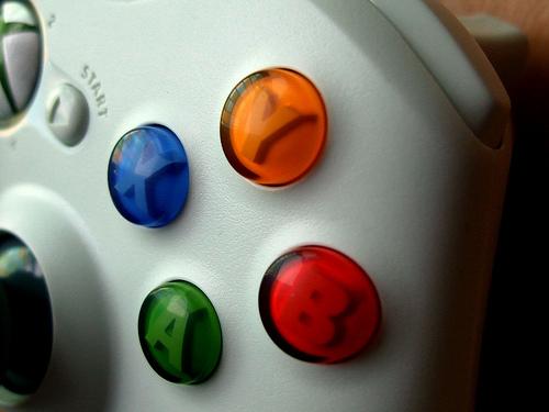 Xbox Controller   From http://farm4.static.flickr.com/3411/4565561717_2207e64f9f.jpg
