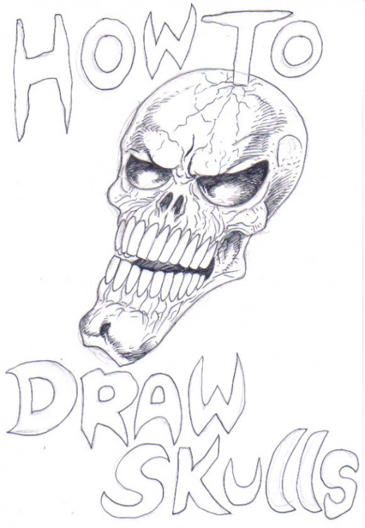 How to draw skulls. Artwork Copyright Wayne Tully.