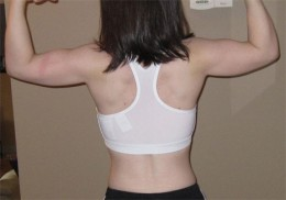 After 90 days I developed some pretty impressive back muscles.