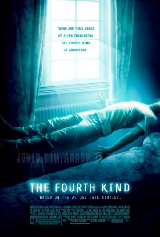 The Fourth Kind Movie Review.    The fourth kind is when aliens abduct people...so scary!