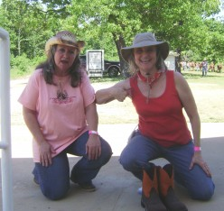 This is what you get when you have 2 friends, Hubpages, & a love for horses!  Note: I had to show off my orange boots, even though I didn't have em' on.