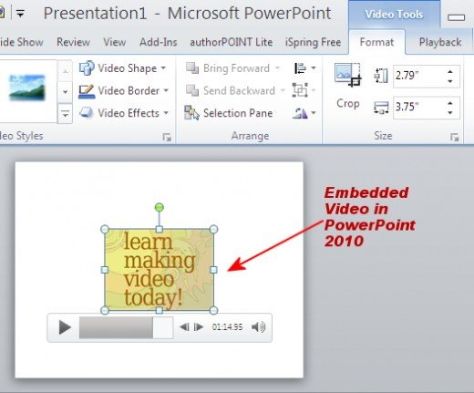 Embedded Video In PowerPoint 2010