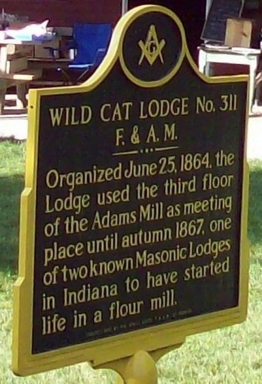 Historical placard in genuine metal.