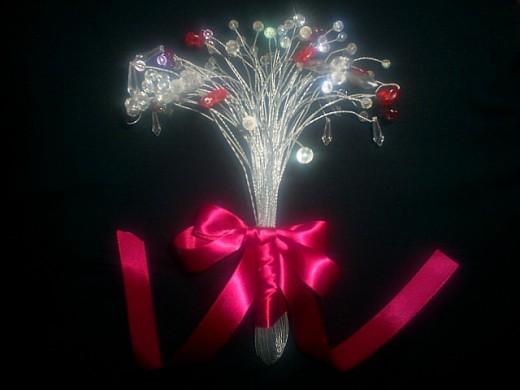 Crystal Ruby Wedding Bouquet