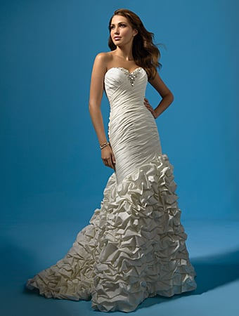 Wedding Dress: Alfred Angelo Wedding Dress Style 2117 Taffeta, Rhinestones, Pearls, Crystal Beading & Sequins Optional Modesty Piece & Spaghetti Straps Sweep Train