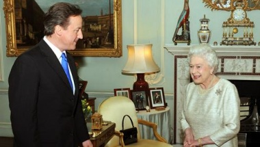 The Queen accepts David Cameron as the new Prime Minister of the UK