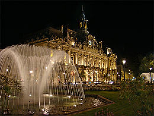 Town Hall and Place Jean Jaurs -- TOURS, FRANCE
