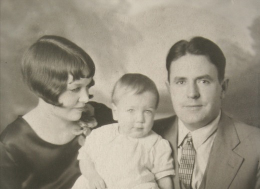 My dad as a baby with his parents.