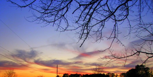 Sunset in Oak Hall, Virginia, U.S.A. Photo by Windy Mason.