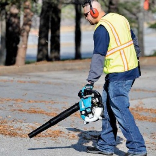 Makita Leaf Blower of the 4 cycle variety is beautiful, sleek, quiet, and efficient.