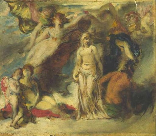 William Etty, Pandora Crowned by the Seasons, 1824