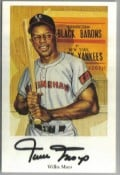 Willie Mays, signed Ron Lewis Card
