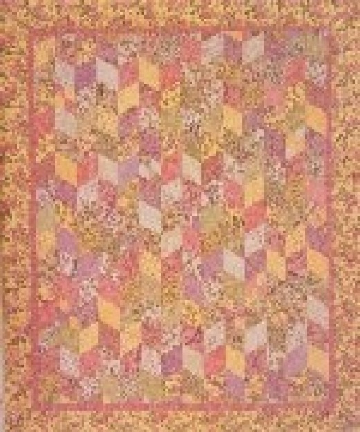 Sweet Emma Rose, quilt designed by Carrie Nelson, pieced by Judy Adams, and quilted by Sandra Strunk..