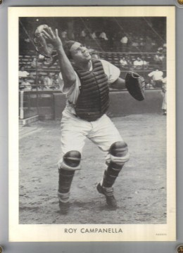 Prototype for the 1951 Wheaties card of Roy Campanella,