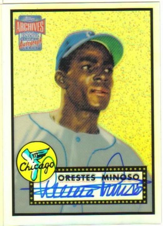 """Orestes """"Minnie"""" Minoso."""