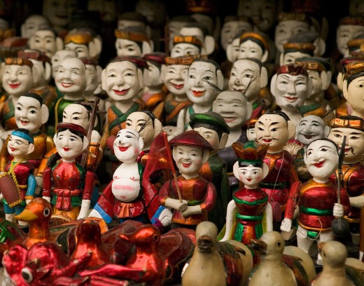 The wooden puppets