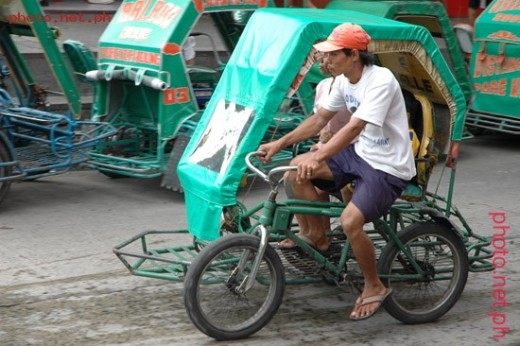 The pedicab is a bicycle with a sidecar