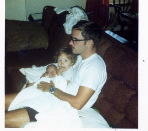 Dad, Rob and I in '74