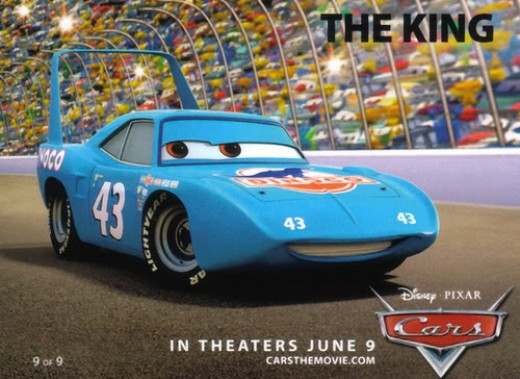 The king from pixar s movie cars voiced by richard petty