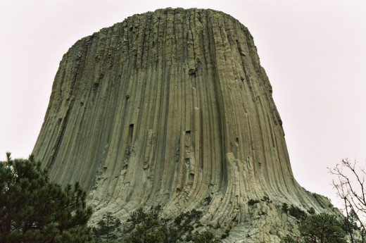 DEVILS TOWER NEAR SUNDANCE WYOMING