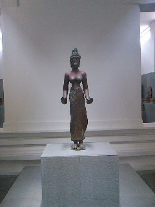 The statue of the Bodhisatva equivalent to Quan Yin (or Goddess of Mercy) in China.