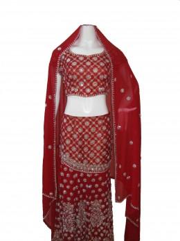 Red Bridal Ghagra Choli